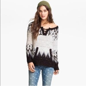 Free People Love Bug Knit Wool Sweater
